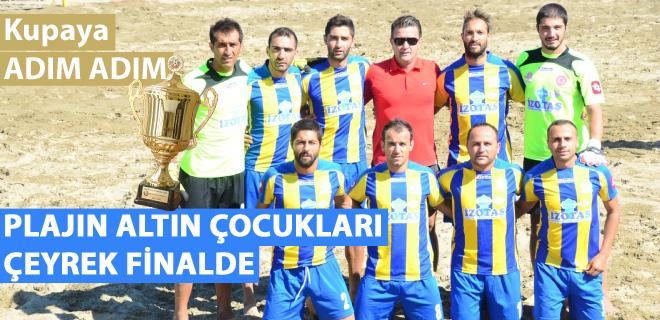 Seferihisar Plaj Futbolu takımı çeyrek finalde