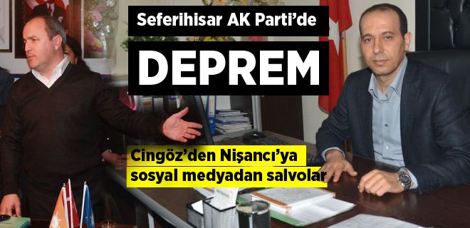 Seferihisar AK Parti'de deprem