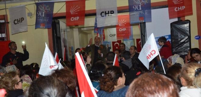 CHP Ulamış seçim bürosunu açtı