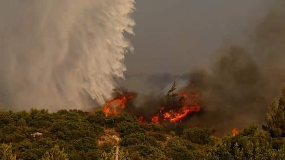 Kavakdere bölgesinde çıkan yangın büyümeye devam ediyor