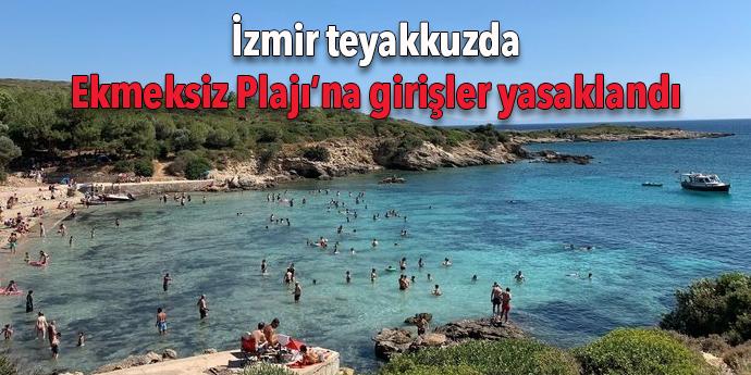 Ekmeksiz Plajı'na girişler yasaklandı
