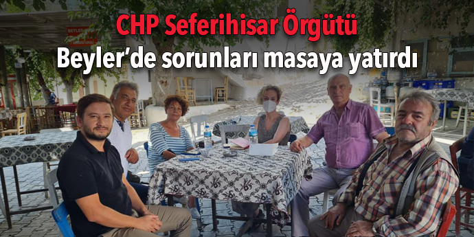 CHP Seferihisar'dan dert dinleme ziyareti