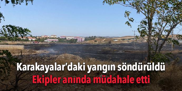 Karakayalar'daki yangın söndürüldü