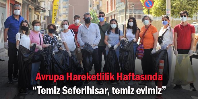 Avrupa Hareketlilik Haftası'nda sokakları temizlediler